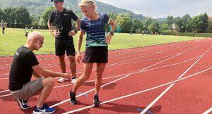 Runner, fisioterapista e allenatore in pista di atletica